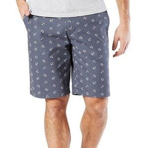 DOCKERS Flat Front Classic Fit Anchor Chino Shorts